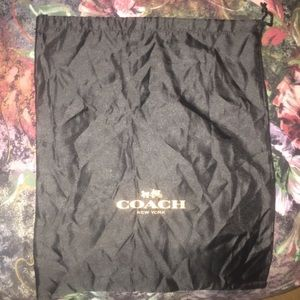 Authentic coach dust bag